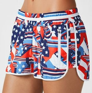 Fabletics Tyson Shorts Patchwork Pride Red White